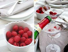 Raspberry & Prosecco Cocktail