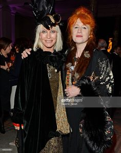 Virginia Bates (L) and Judith Watt arrive at the Alexander McQueen: Savage Beauty VIP private view at the Victoria and Albert Museum on March 14, 2015 in London, England.