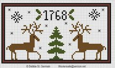 Woolensails: Christmas Freebie: Cross Stitch Deer