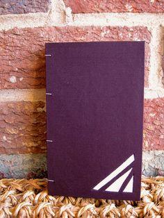 Handmade Coptic Stitch Journal  Hard Cover Dark by FoldAndStitch, $25.00