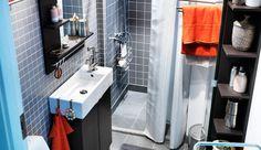 La serie de baño LILLÅNGEN cuenta con armarios altos y estrechos ideales para un espacio reducido.  www.islas.IKEA.es