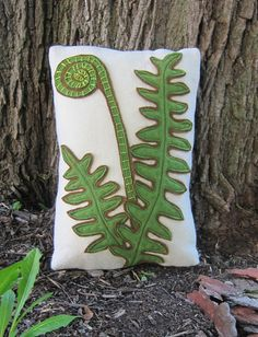 fiddlehead fern pillow