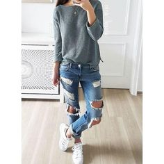 d8894a66ca 25 Ripped Jeans Outfits That Prove Denim Is Here to Stay. Women s  ClothesClothes For ...
