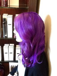 Bright beautiful purple by Daniel Hancock from Berenice salon San Francisco