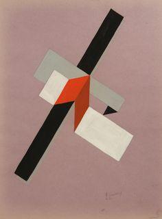 "rosswolfe: "" El Lissitzky, PROUN, 1922. Gouache on paper, 28.7 x"