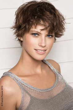 sexy short hair with movement