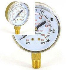 All Purpose Pressure Gauge inch PSI Nitrogen Oxygen Argon Helium. Welding Gas, Pose, Pressure Gauge, Ebay