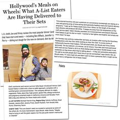 What do Hollywood A-Listers eat? The Hollywood Reporter  discusses meal delivery celebs have delivered to their set (including Paleta)!