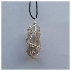 hematite quartz crystal necklace