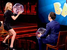 Star Tracks: Monday, August 4, 2014   GOOD SPORT   Julia Roberts takes aim at Tonight Show host Jimmy Fallon as the two engage in a little friendly competition in N.Y.C. on Thursday.