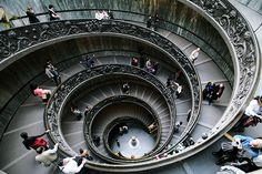 Lisa Story: Rome is all about famous stairs by a_v_anna, via Flickr. Along the handrail there is a flat surface, us students used to put a coin at the top, and it would roll all the way to the bottom of the stairs. Then all the tourists would start to do the same thing and they would be yelled at by security. :)