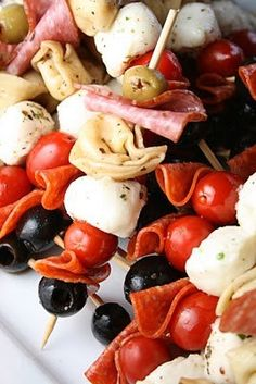 Antipasta kabobs! What a fun idea!