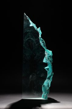 Cast optical glass sculpture R1683 by Colin Reid | Pyramid Gallery