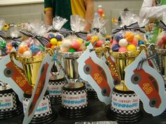 On Your Mark. Get Set. PaRtY! Favors: The Trophies