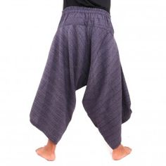 3/5 harem pants with spiral pattern cotton brown