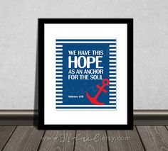Hebrews 6:19 Hope Soul Anchor. By Byive On Etsy