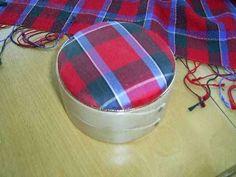 Tartan Silk Shaker Box in Red Sinclair.Would make a great ,graduation gift.