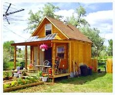 Living simply in a 14x14' home