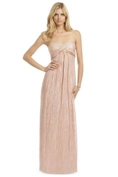 Nicole Miller Exquisite Eliza Gown Love the metalic detail throughout the dress