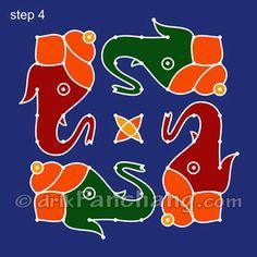 Ganesha Rangoli Step 4