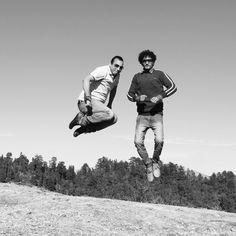Air jumping @ shutter speed.
