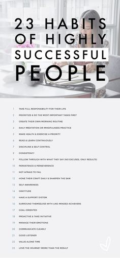 23 habits of highly successful people  www.v2media.ae  #PopUp #Banners #RollUp #Danglers #design #print #businesscard #box #packaging Success Motivation Quotes, Motivational Quotes For Success Career, Sales Motivation, Life Motivation, Motivational People, Quotes Positive, Positive Things, Positive Life, Successful People Habits