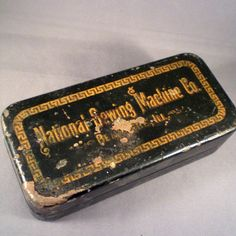 Vintage Tin National Home Sewing Machine Company by BadCatBoutique, $12.00