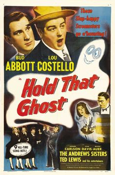 This is a brand new, reproduction print of a 1941 Hold That Ghost Style B poster. Description from ebay.com. I searched for this on bing.com/images