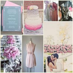 pink gray wedding | This icy and elegant palette is all the rage this fall…we love it ...