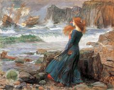 "John William Waterhouse  ""Miranda"""