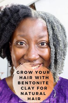 Bentonite clay for natural hair is by far the best hair mask i have ever tried on my thin fine natural hair. For ages, people have been using this clay for their hair and skin. And NO, i have not been living under a rock. Fine Natural Hair, Natural Hair Growth Tips, Best Natural Hair Products, Natural Hair Regimen, How To Grow Natural Hair, Natural Hair Care, Natural Hair Styles, Best Hair Mask, Hair Cleanse