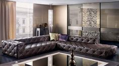 Must Sectional 02, Glamour Living Room Design at Cassoni.com