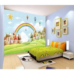 3D Wallpaper Sun Rainbow Grass 735 Wallpaper Mural Wall Mural Wall Murals Removable Wallpaper