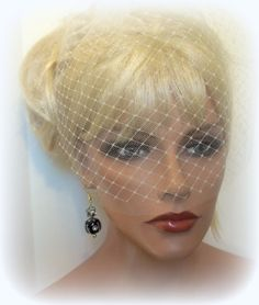 Wedding Veil Double Layer Bridal Veil French Net by kathyjohnson3