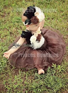 Coffee and Cream Fall Autumn BabyTutu Dress