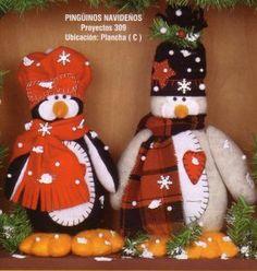 pinguinos navideños 55 bs