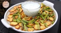 Ofenkartoffeln mit grünem Spargel - Rezept von Krizzle's Delicious Kraut, Pickles, Green Beans, Cucumber, Vegetables, Food, Fast Recipes, Oven, Easy Recipes