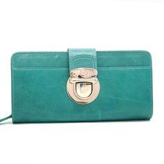 8a6caa83dc59 Anais Gvani Women's Gold Buckled Smooth Genuine Leather Bi-fold Wallet -  L.Green 6957890840015   eBay