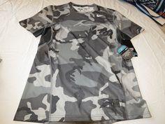 Nike DRI FIT PRO COMBAT Hypercool fitted t shirt XXL Men's 657442 066 grey camo #Nike #activecombathypercoolshirt