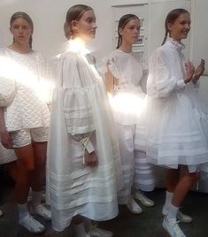 Cecilie Bahnsen is an upcoming Danish designer who's perfected ruffles, organza and the new femininity. We met her for an interview High Street Fashion, Street Style, Runway Fashion, Fashion Show, Womens Fashion, Summer Dress, Fashion Details, Fashion Design, White Outfits