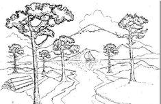 imagenes-de-paisajes-naturales-para-colorear-arboles