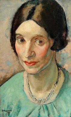 Portrait of a Girl by Bernard Meninsky, 1916, Oil on canvas, 64.2 x 49 cm | Museums Sheffield