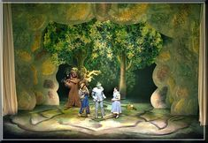 Wizard of Oz set Design by Richard Finkelstein, Stage Designer