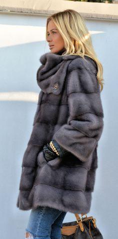 mink furs - fantastic graphite royal saga mink fur coat with golf Fur Fashion, Winter Fashion, Fashion Outfits, Womens Fashion, Fashion Clothes, Fur Coat Outfit, Fox Fur Coat, Mink Jacket, Fabulous Furs