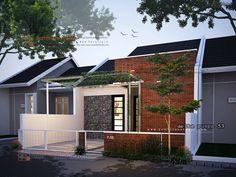 desain minimalis – Page 2 – sembilanstudio Social Housing Architecture, Modern Architecture House, Architecture Design, Craftsman Bungalow Exterior, Craftsman Bungalows, Minimalist House Design, Minimalist Home, Facade Design, Exterior Design