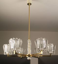 Carl Fagerlund Orrefors Glass Chandelier | From a unique collection of antique and modern chandeliers and pendants  at https://www.1stdibs.com/furniture/lighting/chandeliers-pendant-lights/