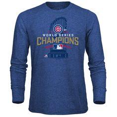 b8d49b067c3 Men s Chicago Cubs Majestic Threads Royal 2016 World Series Champions  Locker Room Tri-Blend Long Sleeve T-Shirt
