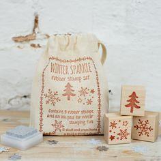 Winter sparkle rubber stamp set Etsy listing at https://www.etsy.com/listing/203164733/winter-sparkle-rubber-stamp-set-set-of