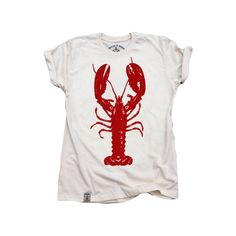 Rock Lobster: Organic Fine Jersey Short Sleeve T-Shirt in Unbleached Natural