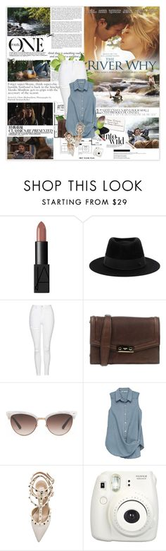 """""""The River Why 38/50"""" by mars ❤ liked on Polyvore featuring Haze, Garance Doré, Anja, NARS Cosmetics, Maison Michel, Topshop, Ports 1961, Chanel, Gucci and Bobeau"""